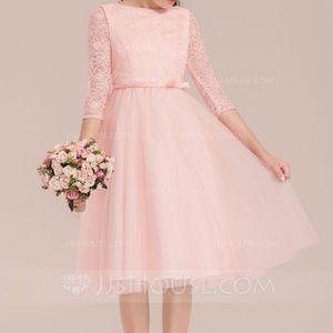 A-Line/Princess Knee-length Flower Girl Dress